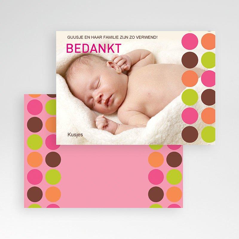 Bedankkaartje geboorte dochter - Retro smarties Smarties Bedrukken