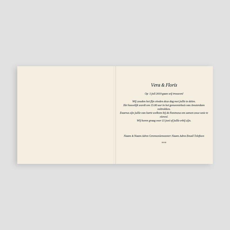 Personaliseerbare trouwkaarten - Sober donker design 12274 thumb