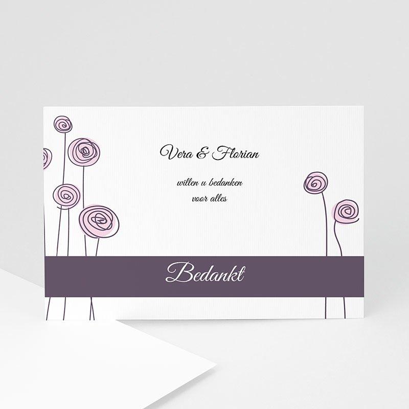 Bedankkaartjes huwelijk uitnodiging
