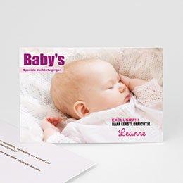 Bedankkaartje geboorte dochter - Baby cover - 1