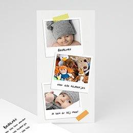 Bedankkaartje geboorte dochter - Eerste polaroids - 1