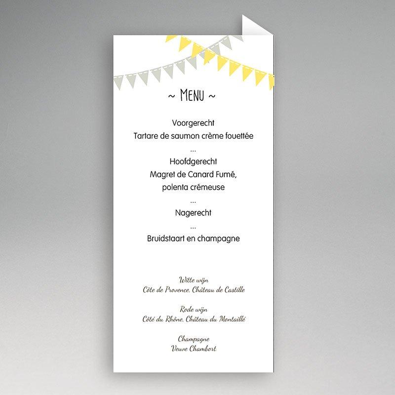 Personaliseerbare menukaarten huwelijk - Avondfeest : Zokaartjes.com