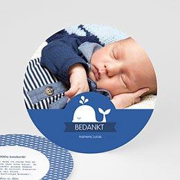 Bedankkaartje geboorte zoon - Walvisje - 0