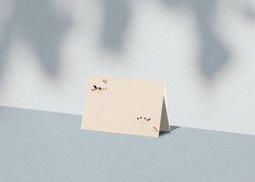 Personaliseerbare plaatskaartjes voor verjaardag