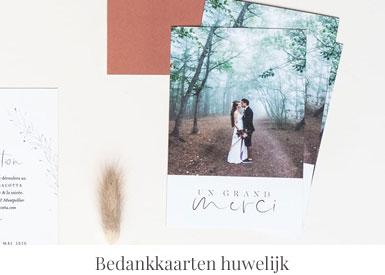 Bedankkaarten huwelijk