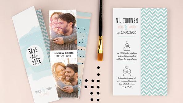 creatieve bruiloftskaarten