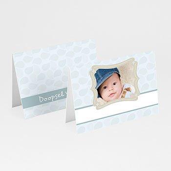 Plaatskaartjes doopviering - Doop met blauw - 1