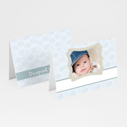 Plaatskaartjes doopviering Doop met blauw