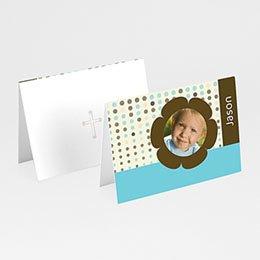Plaatskaartjes Doopviering Retro blauw-bruin