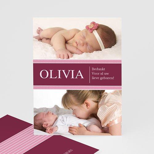 Bedankkaartje geboorte dochter - Wonderland baby 10013 thumb