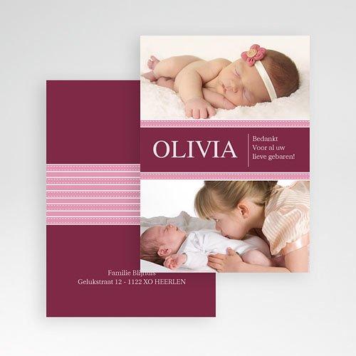 Bedankkaartje geboorte dochter - Wonderland baby 10014 thumb