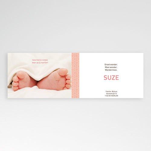 Geboortekaartje meisje - Zalmroze dromen 10030 thumb