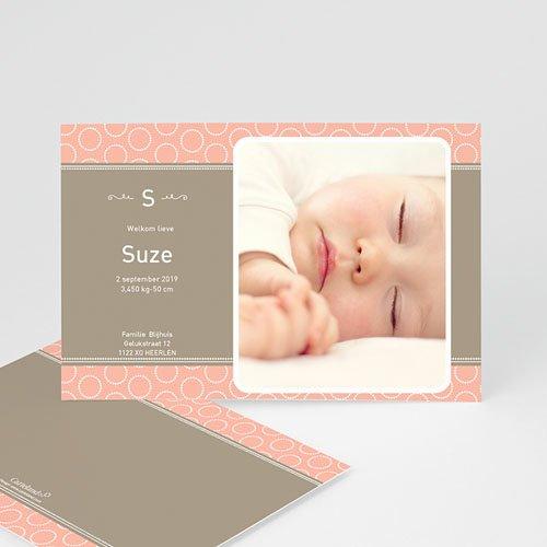 Geboortekaartje meisje - Zalmroze dromen 10031 thumb