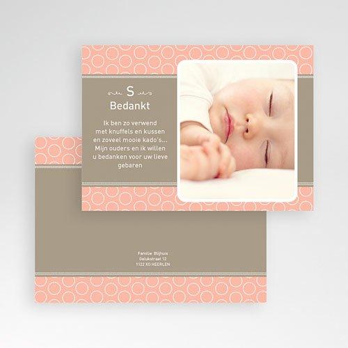 Bedankkaartjes Geboorte Meisje Zalmroze dromen pas cher