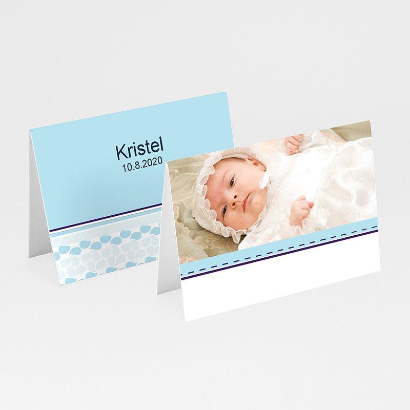 Plaatskaartjes doopviering - Hemels blauw 10055 thumb