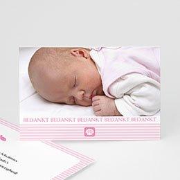 Bedankkaartjes Doopviering Maritiem, roze