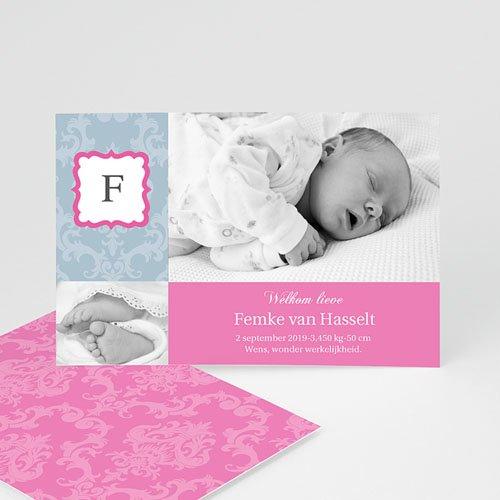 Geboortekaartje meisje - Hip design meisje 10063 thumb