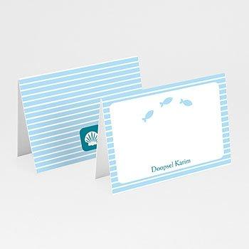 Plaatskaartjes doopviering - Blauw water - 1