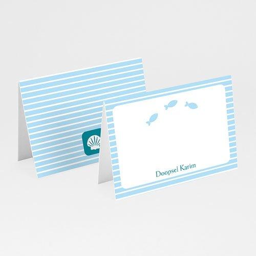 Tafelkaartjes Doop Blauw water