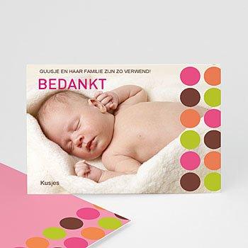 Bedankkaartje geboorte dochter - Retro smarties - 1