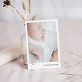 Bedankkaartjes Geboorte Hallo, goudtakje, foto portret