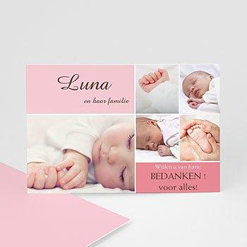 Bedankkaartje geboorte dochter - Softe mozaiek - 1
