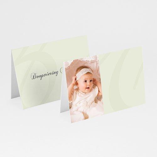 Tafelkaartjes Doop Drieluik met doopviering