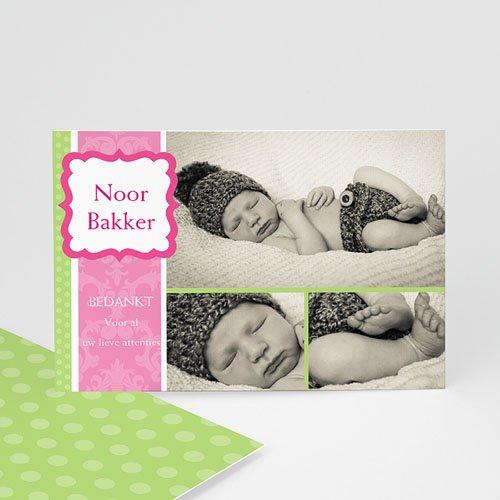 Bedankkaartje geboorte dochter - Roze snoepie 10121 thumb