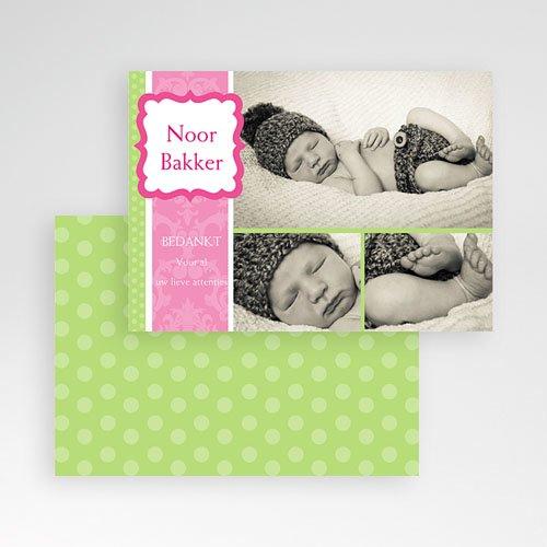 Bedankkaartje geboorte dochter - Roze snoepie 10122 thumb