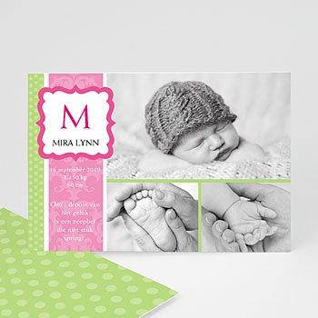 Geboortekaartje meisje - Roze snoepie - 1