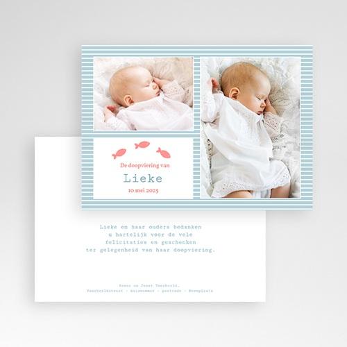 Bedankkaart doopviering jongen Blauw water pas cher