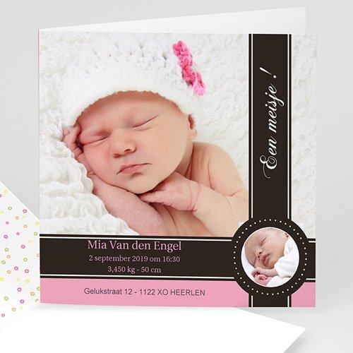 Geboortekaartje meisje - Een roze bonbon 10135 thumb