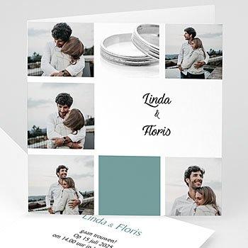 Hij + Zij uitnodigingen - Omringd met beelden - 1