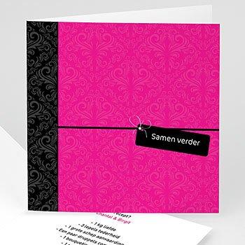 Hij + Zij uitnodigingen - Roze save the date - 1