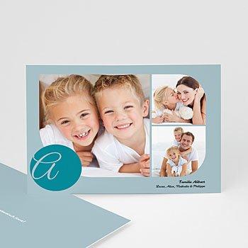 Multi fotokaarten, meerdere foto's - Blauw multifoto - 1