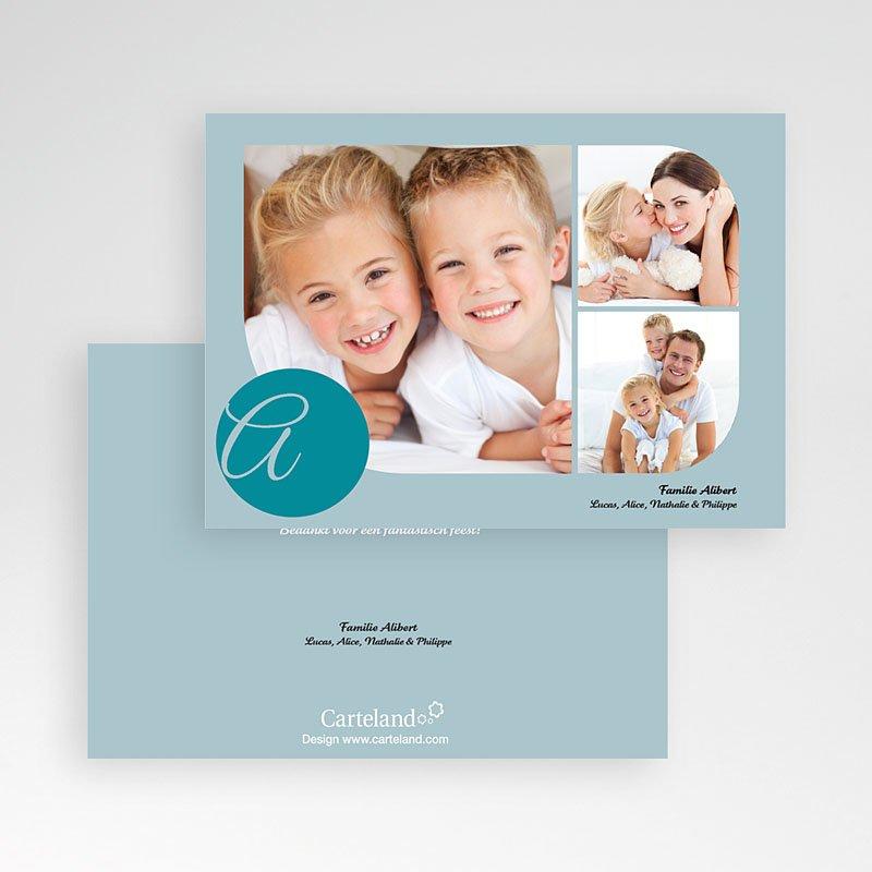 Multi fotokaarten, meerdere foto's - Blauw multifoto 10164 thumb