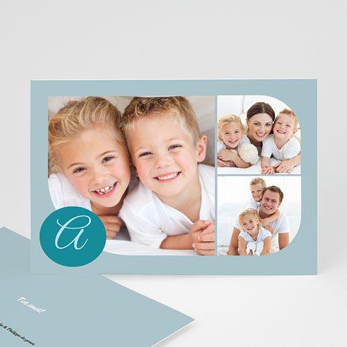 Multi fotokaarten, meerdere foto's Blauw multifoto