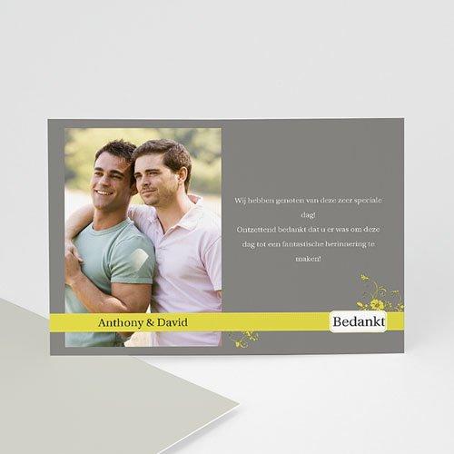 Bedankkaartjes samenlevingsovereenkomst - Bruin en geel 10177 thumb