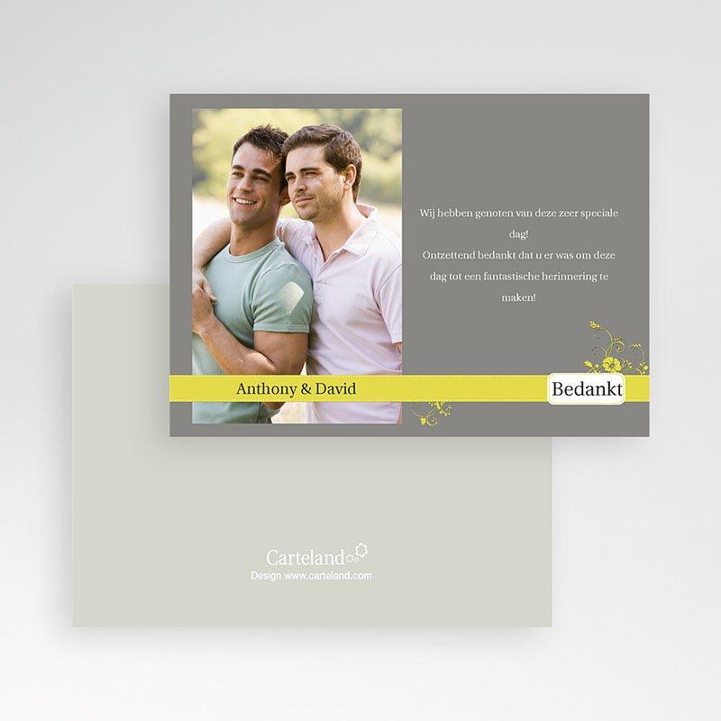 Bedankkaartjes samenlevingsovereenkomst - Bruin en geel 10178 thumb
