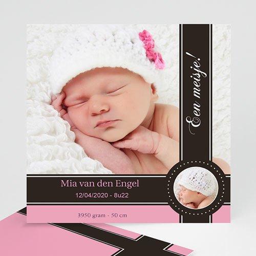 Geboortekaartje meisje - Een roze bonbon 10206 thumb