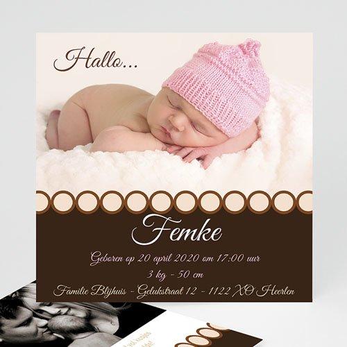 Geboortekaartjes Meisje Ons snoepje