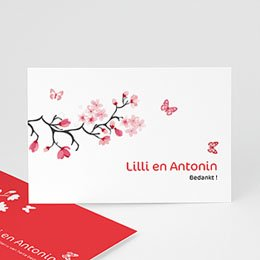 Bedankkaartjes huwelijk Magnolia roze