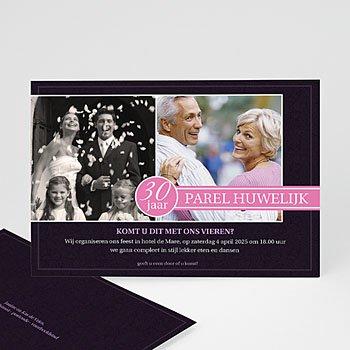 Jubileumkaarten huwelijk - Roze lilla - 1