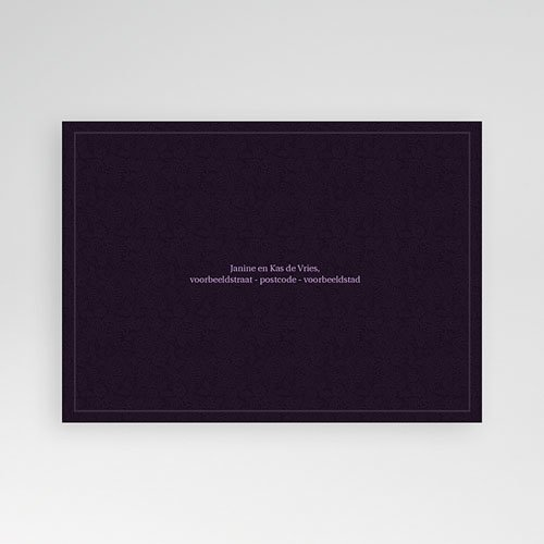 Jubileumkaarten huwelijk - Roze lilla 10223 thumb