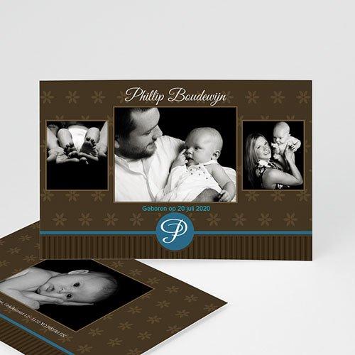 Geboortekaartje jongen - Prinselijk geschenk 10228 thumb