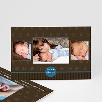 Bedankkaartje geboorte zoon - Prinselijk geschenk - 1