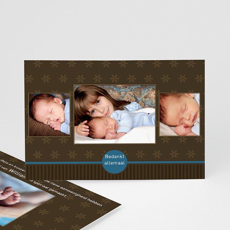 Bedankkaartje geboorte zoon - Prinselijk geschenk 10230 thumb