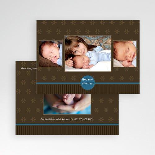 Bedankkaartje geboorte zoon - Prinselijk geschenk 10231 thumb