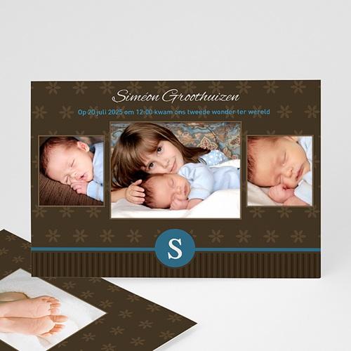 Geboortekaartje jongen - Prinselijk geschenk 10234 thumb