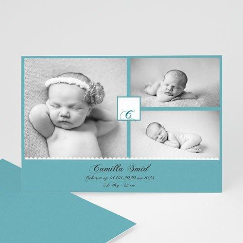 Geboortekaartje meisje - Koning Azuur 10236 thumb